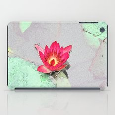 art style pretty pink waterlily flower  iPad Case