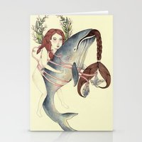 Ribbons Whale Stationery Cards