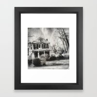Goat on the roof Framed Art Print
