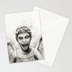 Weeping Angel Watercolor Stationery Cards