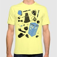 Artifacts: Doctor Who Mens Fitted Tee Lemon SMALL