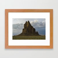 Shiprock, New Mexico. Framed Art Print