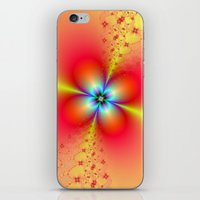 Floral Sprays in Red and Yellow iPhone & iPod Skin