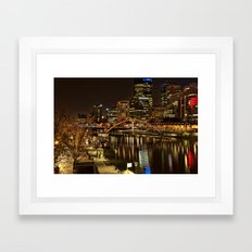 Melbourne City Framed Art Print