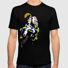 Valentino Rossi Black Mens Fitted Tee SMALL