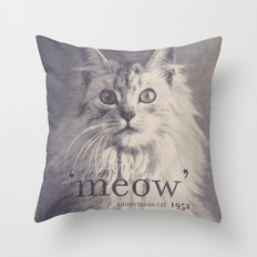 Famous Quotes #2 (anonymous cat, 1952) Throw Pillow