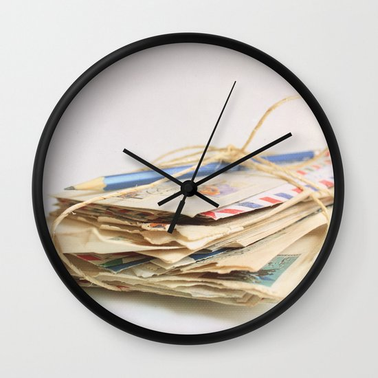 All The Letters That I Wrote To You IV Wall Clock