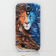 Fire And Ice Lion Galaxy S4 Slim Case