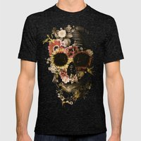Garden Skull Light Mens Fitted Tee Tri-Black SMALL