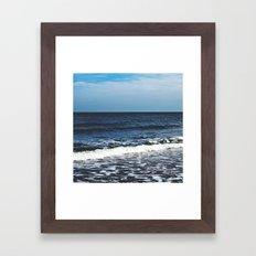 Kissing The Shoreline Framed Art Print