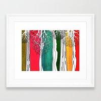 Color Forest Framed Art Print