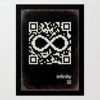 QR infinity Art Print