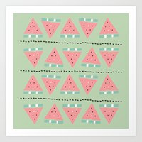 watermelon repeat Art Print