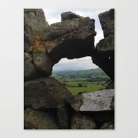 Rock Wall Window Canvas Print