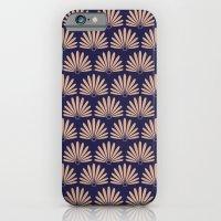 Blue & Peach Daisies iPhone 6 Slim Case