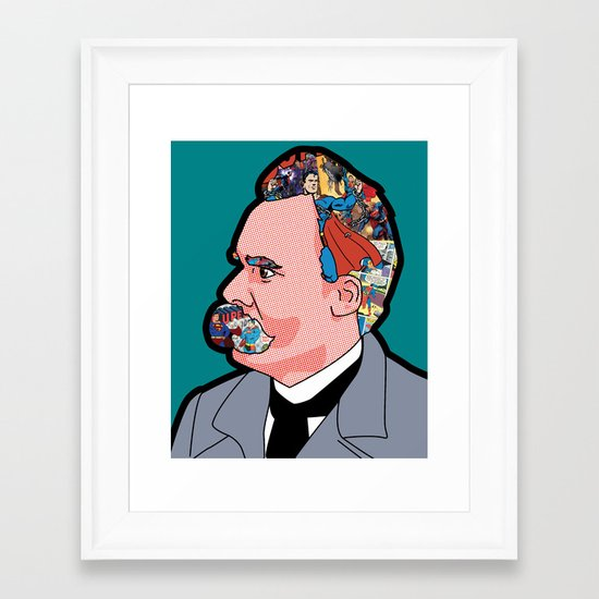 Mix - Nietzsche Framed Art Print