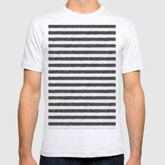 Zebra Fur Pattern Mens Fitted Tee Ash Grey SMALL