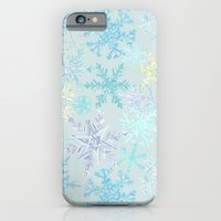 icy snowflakes iPhone 6 Slim Case