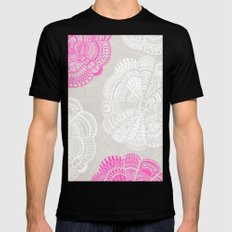 Doodle Doiley Black Mens Fitted Tee SMALL