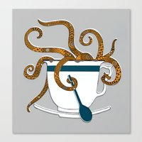 Octopus In A Teacup Canvas Print