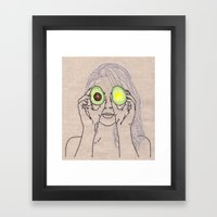 AVOCADO OF MY EYE Framed Art Print