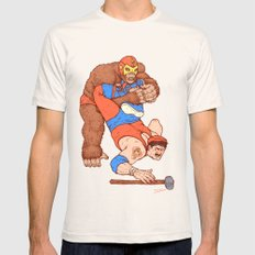 Gorilla Clutch Mens Fitted Tee Natural SMALL