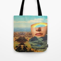 Rainbow Head Tote Bag