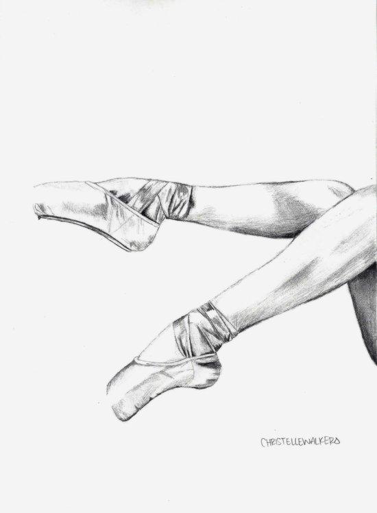 pointe shoes Canvas Print