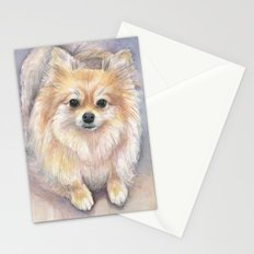 Pomeranian Watercolor Pom Painting Stationery Cards