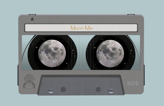 The Moon Mix Tape Canvas Print