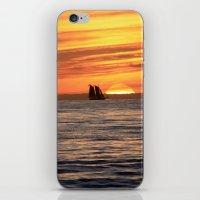 Sunset sail iPhone & iPod Skin