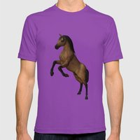 Divine Steed Mens Fitted Tee Ultraviolet SMALL