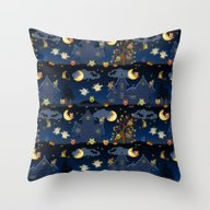 Halloween Owls Throw Pillow