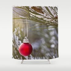 Christmas is here Shower Curtain