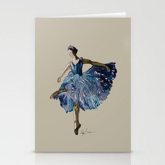 Ballerina  Stationery Card