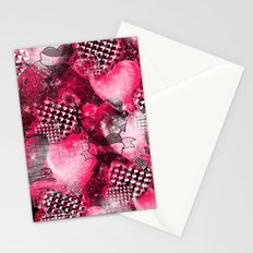 Light Bulb Hearts Series (red) Stationery Cards