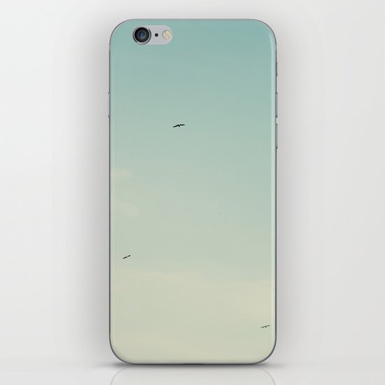 The moon and the birds iPhone & iPod Skin