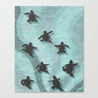 Loggerhead Sea Turtle Ha… Canvas Print