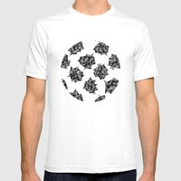 Spike Clusters Mens Fitted Tee White SMALL