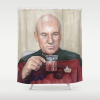 Captain Picard Earl Grey… Shower Curtain