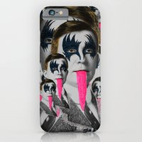 kiss iPhone & iPod Cases featuring kiss by DIVIDUS