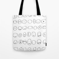 56 Faces Tote Bag