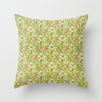 Golden Lily Design Throw Pillow