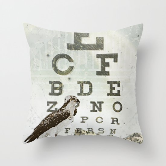 eye chart II Throw Pillow