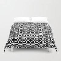 Black And White Tile 6/9… Duvet Cover