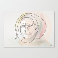 One line B.Marley Canvas Print