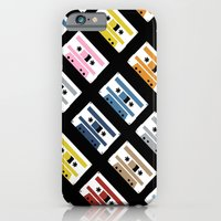 iPhone & iPod Case featuring Rainbow Tapes 45 by Project M
