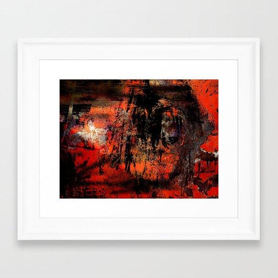 My Red Instinct Framed Art Print