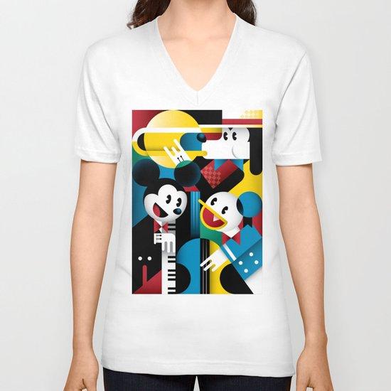 Mickey's Band V-neck T-shirt