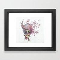 Sorting Through Weeds Framed Art Print